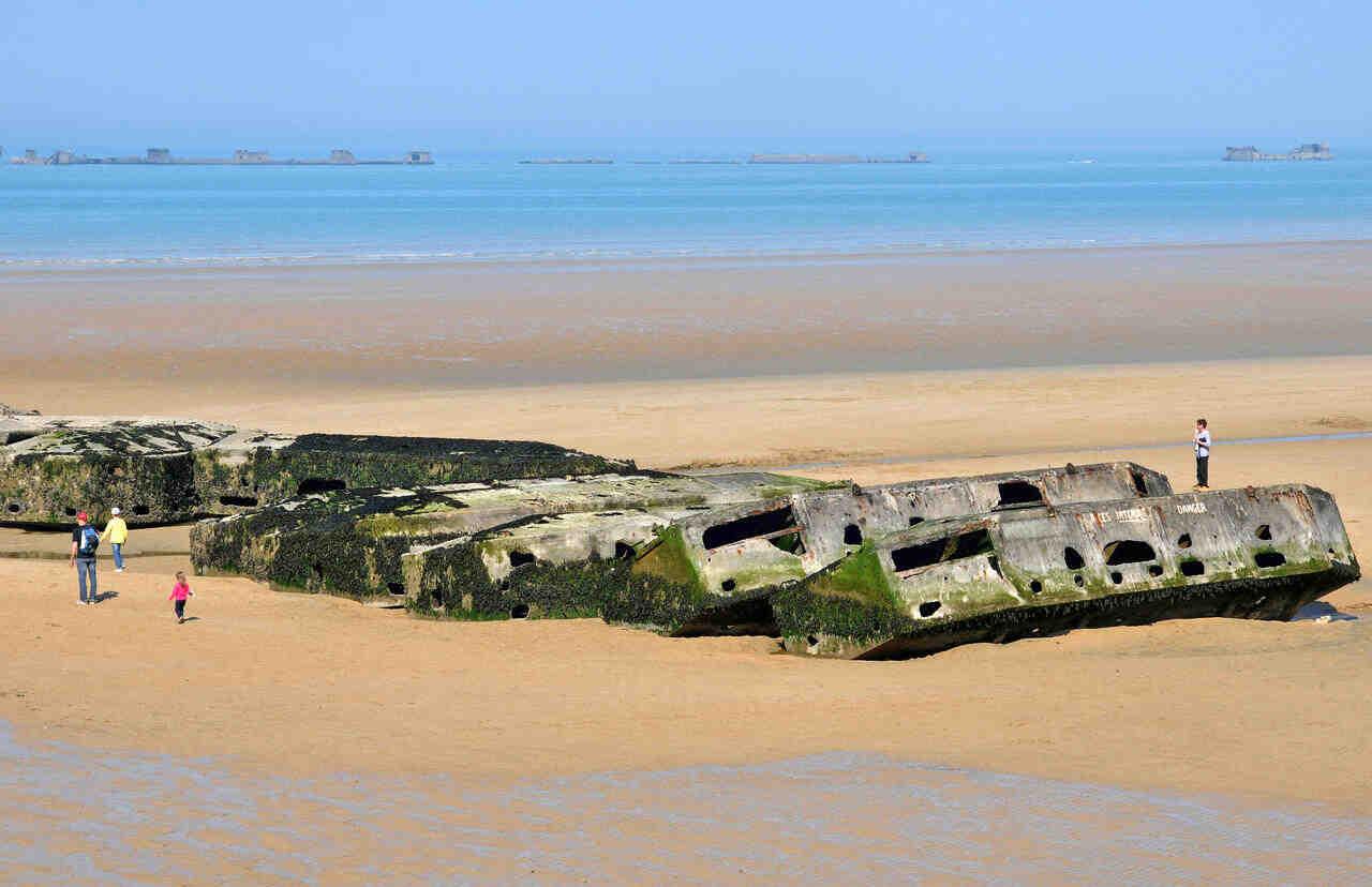 Quel circuit visiter sur la plage du débarquement?